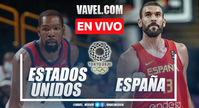 Resumen y mejores momentos del Estados Unidos 95-81 España en Baloncesto Varonil Tokio 2020
