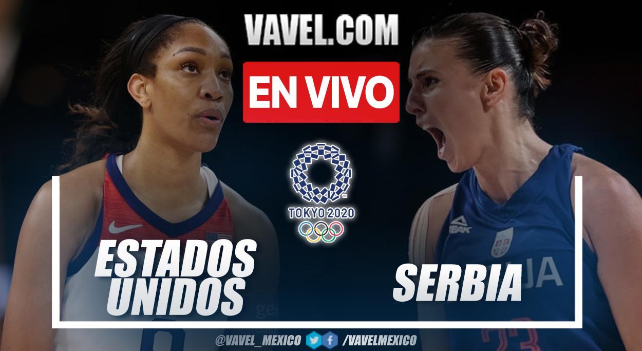 Resumen: Estados Unidos 79-59 Serbia en semifinales de baloncesto en Tokio 2020