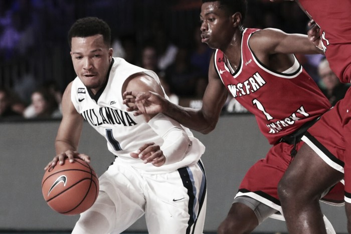 NCAA Basketball: Battle 4 Atlantis quarterfinal: Villanova overcomes sluggish start to top Western Kentucky 66-58