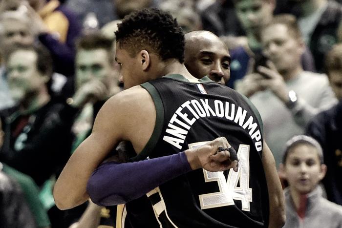 NBA - Kobe Bryant sfida Antetokounmpo