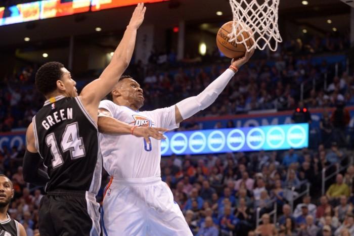 NBA, OKC nel segno di Durant e Westbrook: Spurs al tappeto (111-92)