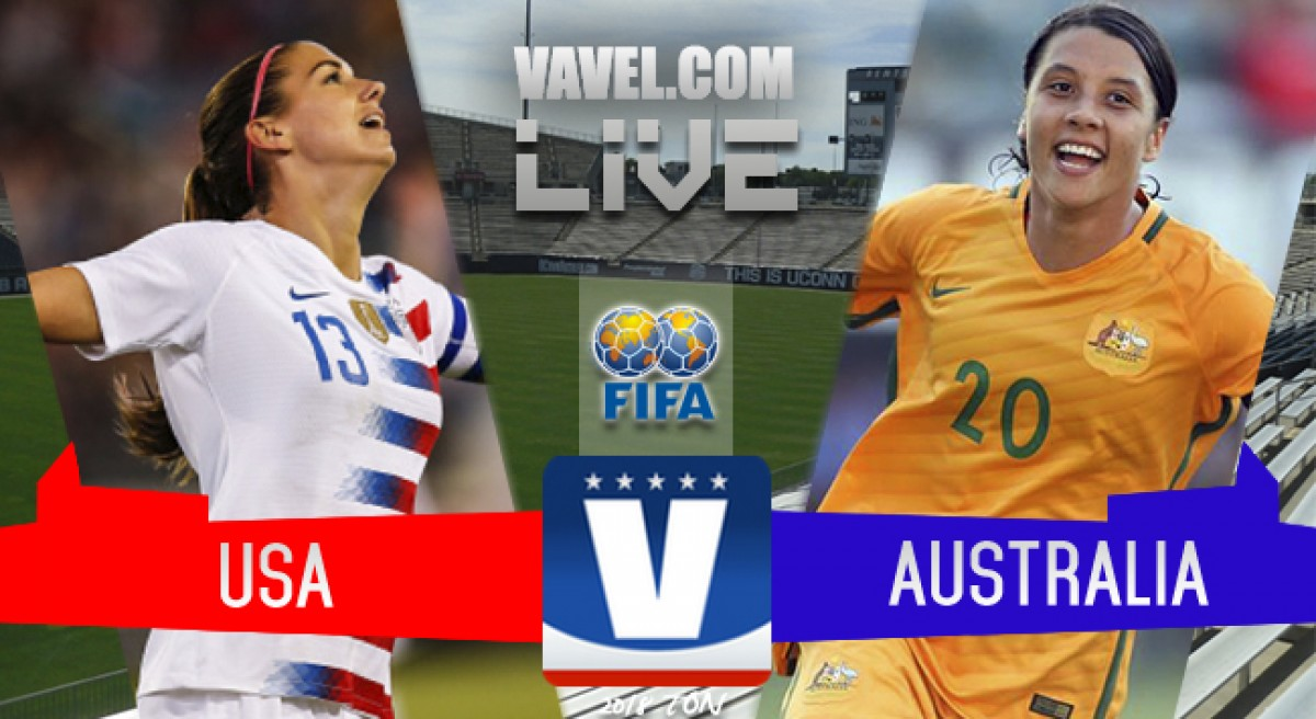 Result: USWNT 1-1 Australia in 2018 Tournament of Nations