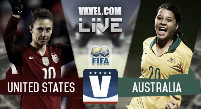 Result and Goals USA 0-1 Australia in 2017 Tournament of Nations