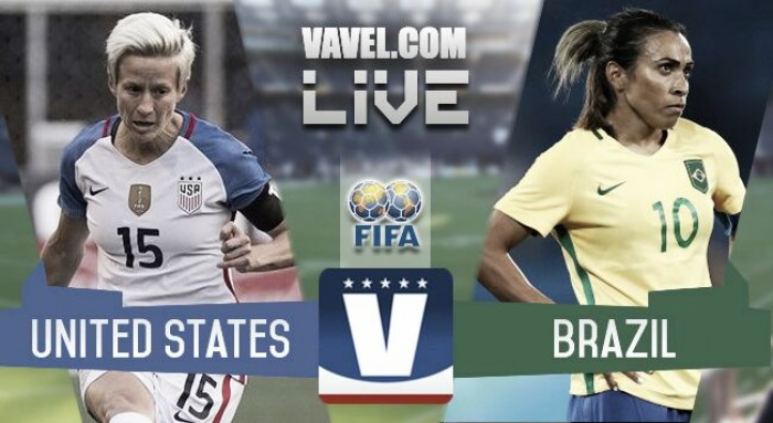 Result USA 4-3 Brazil in 2017 Tournament of Nations