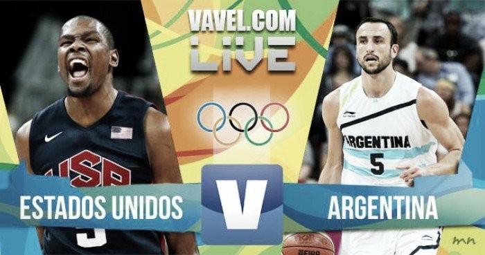 Resultado Estados Unidos x Argentina (105-78)