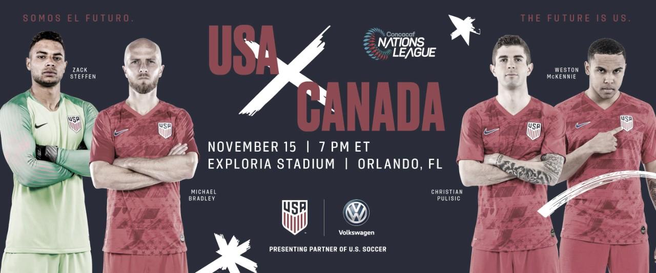 Estados Unidos jugará con Canadá en Orlando