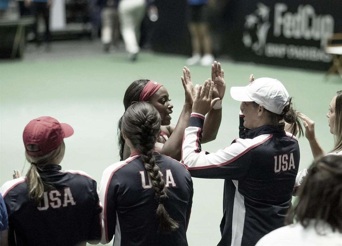 Estados Unidos derrota Suíça pela Fed Cup e garante vaga no Grupo Mundial