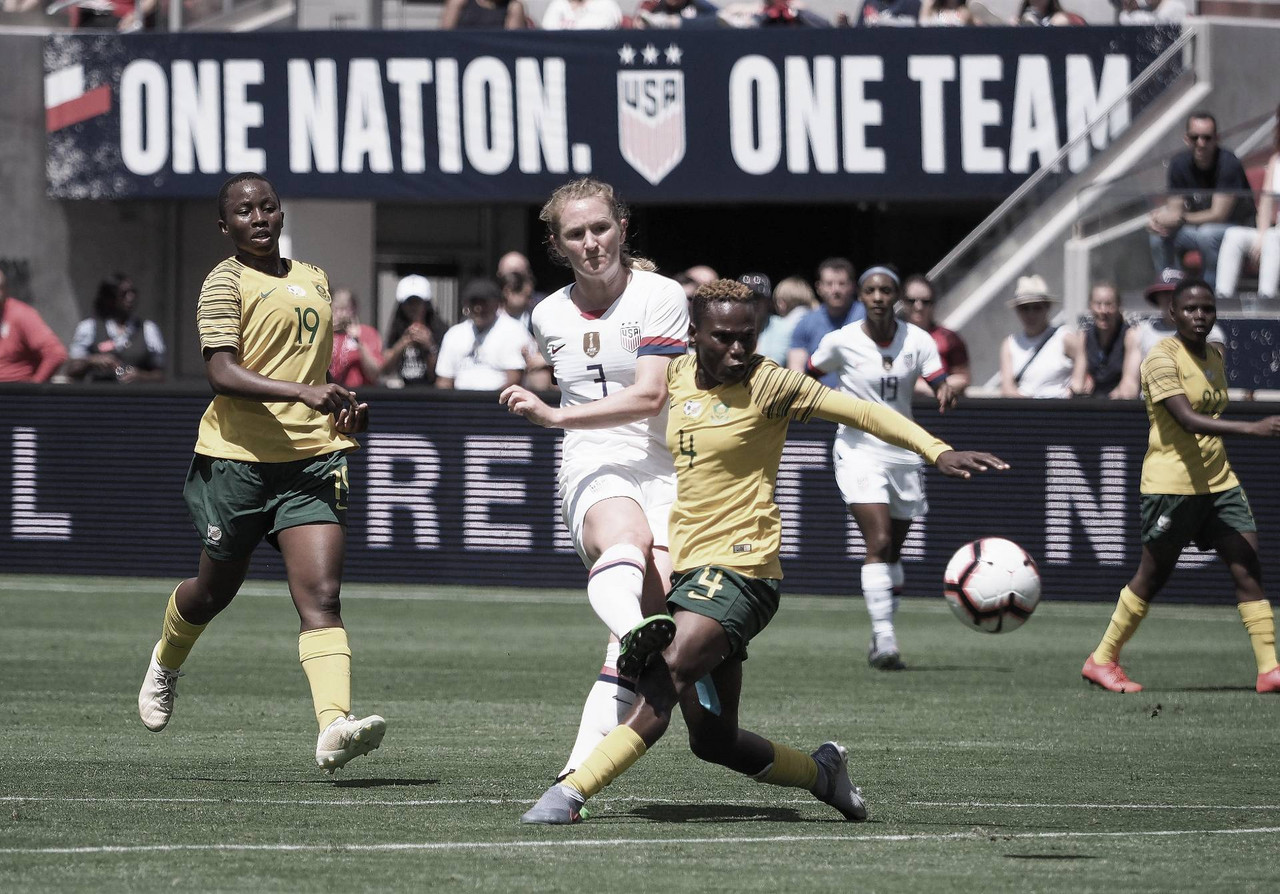 United States 3-0 South Africa: Sam Mewis scores twice in US victory