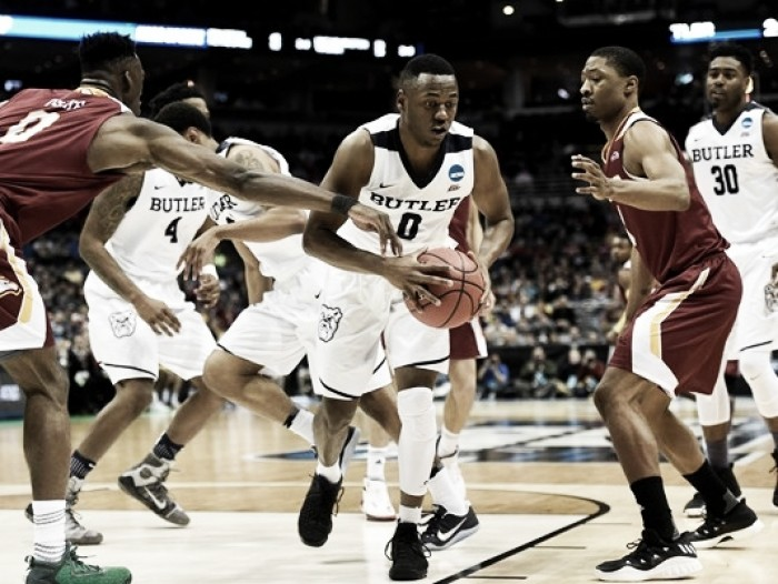 NCAA Tournament: Butler Bulldogs solid in 76-64 victory over Winthrop Eagles