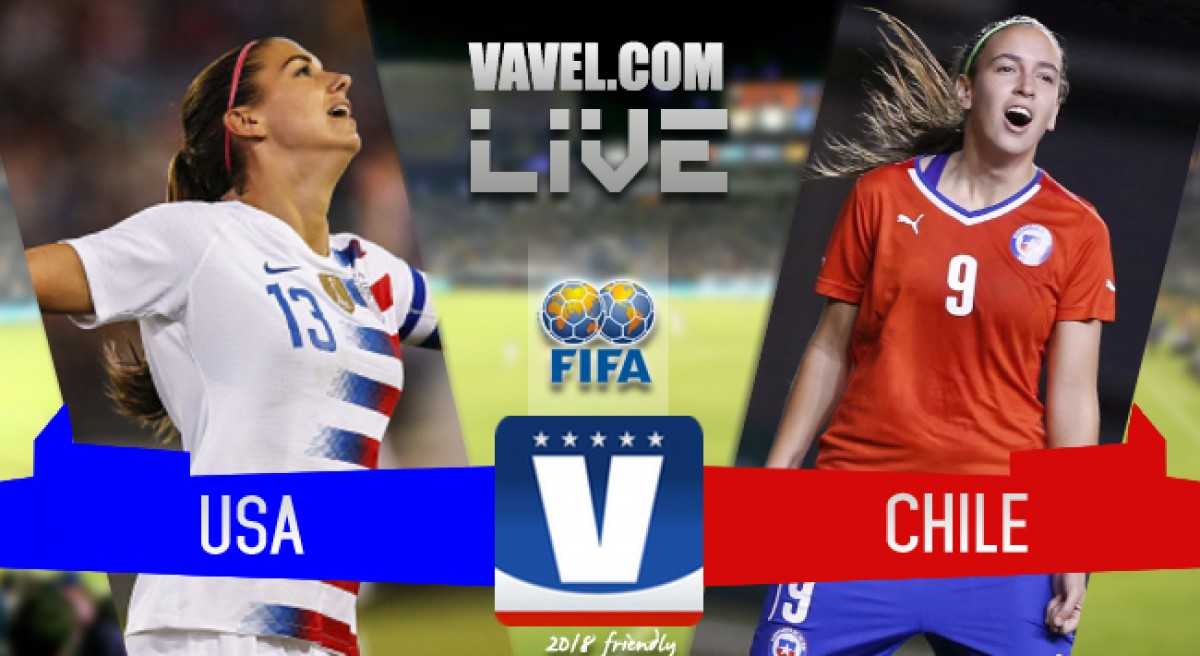 Result: USWNT 3 - 0 Chile in an International Friendly