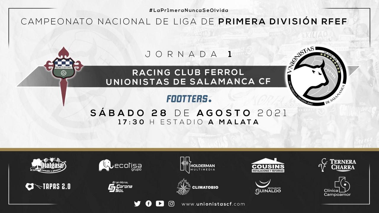 Previa Racing Ferrol vs Unionistas CF: estreno en Primera RFEF con ilusión