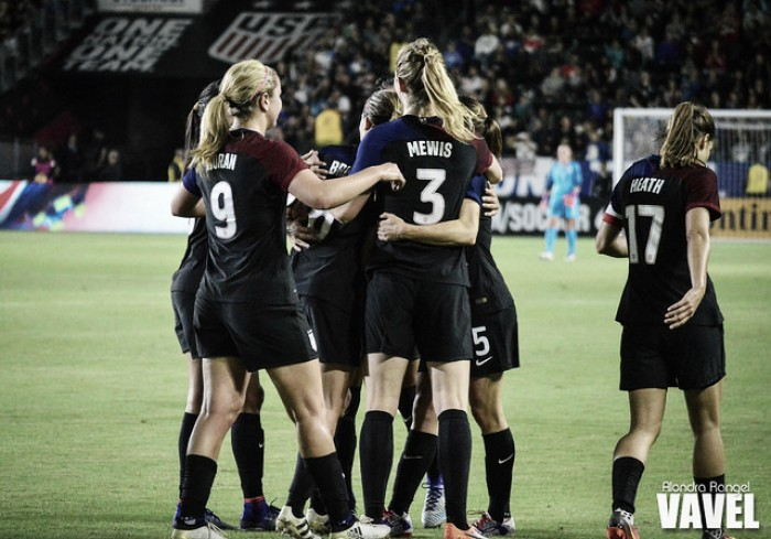 Score and goals USA 1-0 Germany in SheBelieves Cup 2017