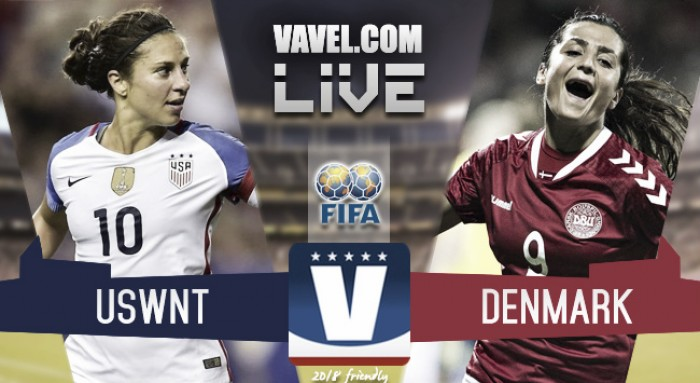 Result and Score USWNT (5-1) Denmark in 2018 friendly