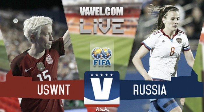 Result and goals USA 5-1 Russia Live Stream Score Commentary in International Friendly 2017