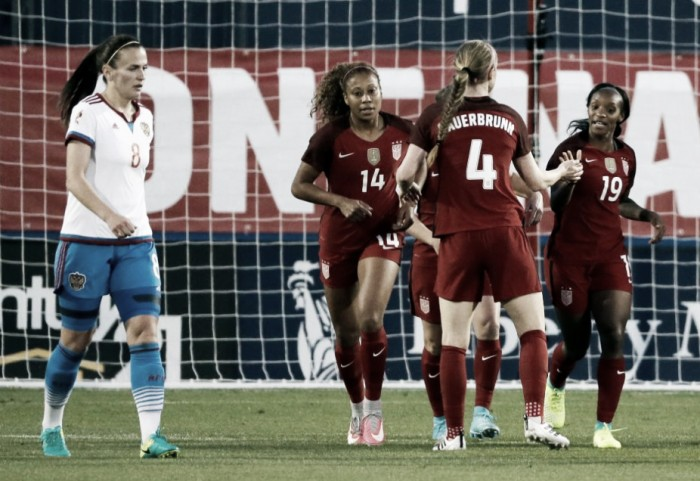 USWNT takes down Russia 4-0 behind a pair of Braces