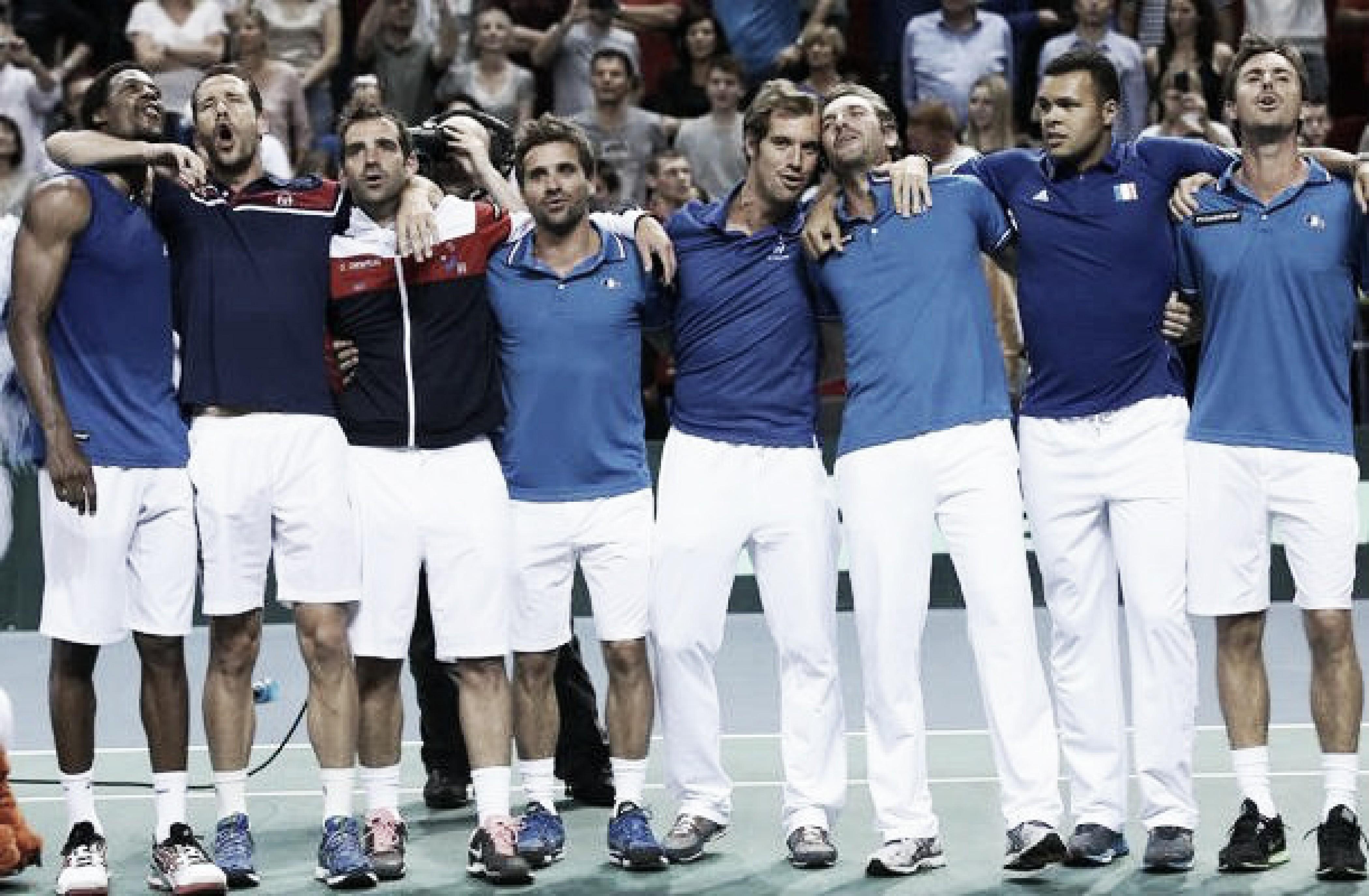 Copa Davis: Francia a la final y Croacia 2-1 arriba frente a Estados Unidos
