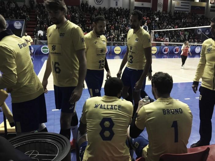 Brasil derrota Chile com tranquilidade e vai à final do Sul-Americano de Vôlei