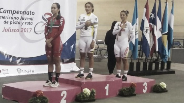 Colombia cerró la pista al frente del medallero en el Panamericano Juvenil de Ciclismo