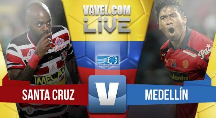 Resultado Santa Cruz vs Independiente Medellín, por la Copa Sudamericana 2016 (3-1)