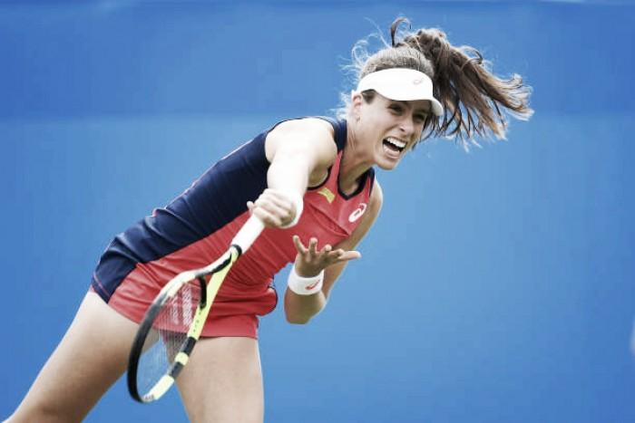 WTA Eastbourne: Johanna Konta snaps Jelena Ostapenko's winning run