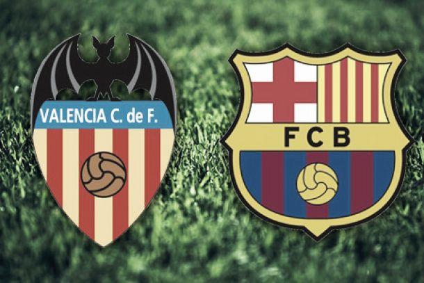 Valência e Barcelona em jogo grande da 13ª jornada da Liga BBVA