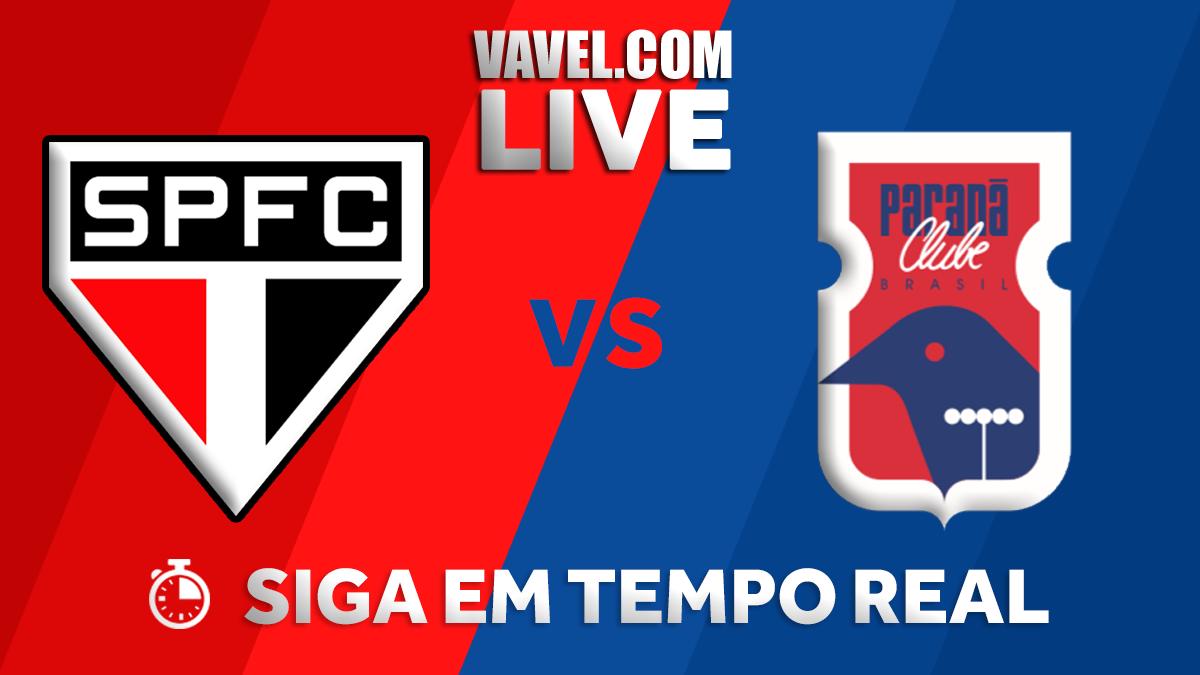 Resultado São Paulo x Paraná Clube no Campeonato Brasileiro (1-0)