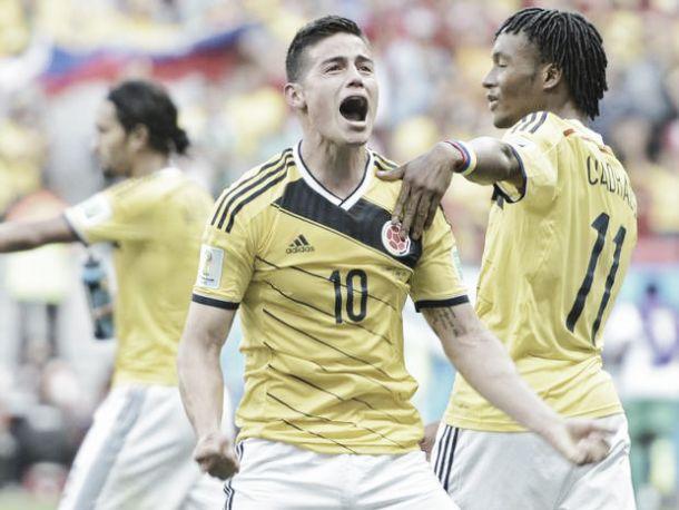 James morde os calcanhares uruguaios rumo aos quartos-de-final