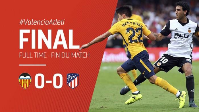 Match nul et vierge entre Valence et l'Atléti. (Twitter: @Atléti)