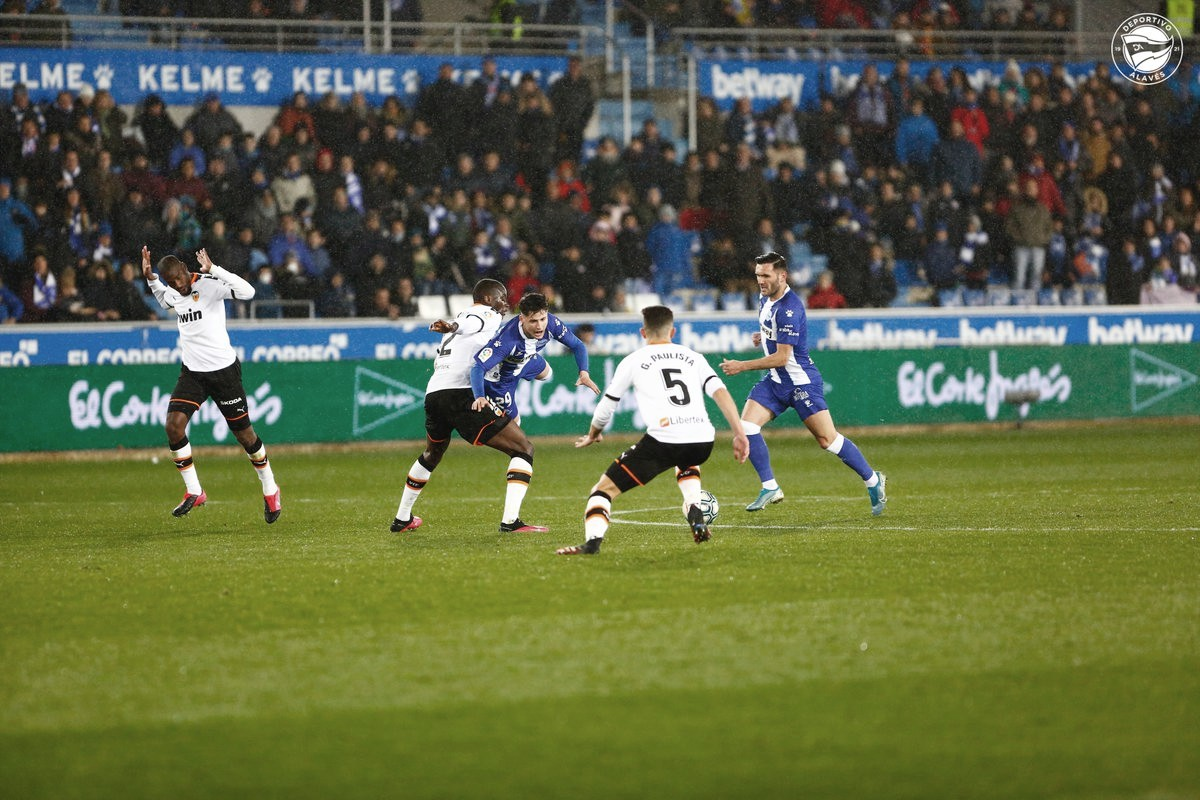 Partido Alavés - Valencia de la temporada 201/2020 | Foto: Deportivo Alavés