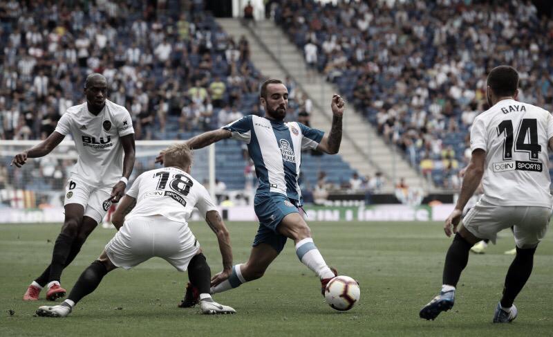 Resumen Valencia CF vs. RCD Espanyol en vivo hoy en LaLiga 2018/19 (0-0)