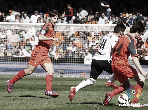 Valencia CF - Real Sociedad: puntuaciones de la Real Sociedad, 25ª jornada de la Liga BBVA