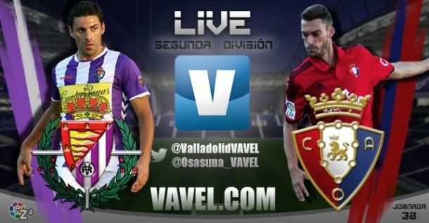 Resultado Real Valladolid - Osasuna en la Segunda División 2015 (1-1)