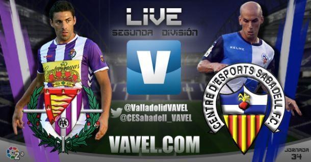 Resultado Real Valladolid vs CE Sabadell en la Liga Adelante 2015 (0-0)