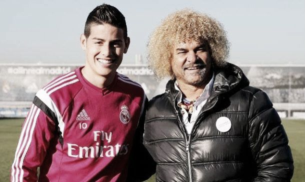 Valderrama hails James as on the level of Messi and Neymar