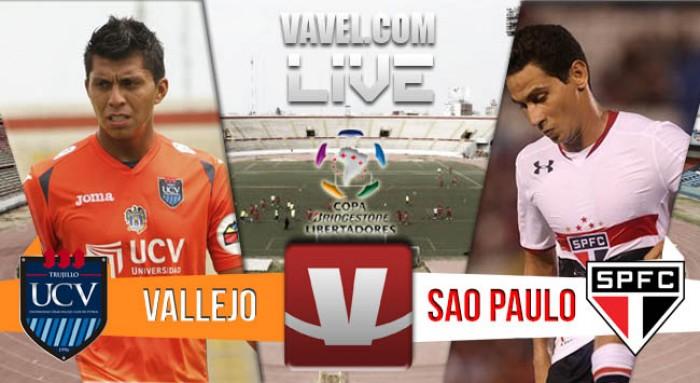 Resultado César Vallejo - Sao Paulo en Pre-Libertadores 2016 (1-1)