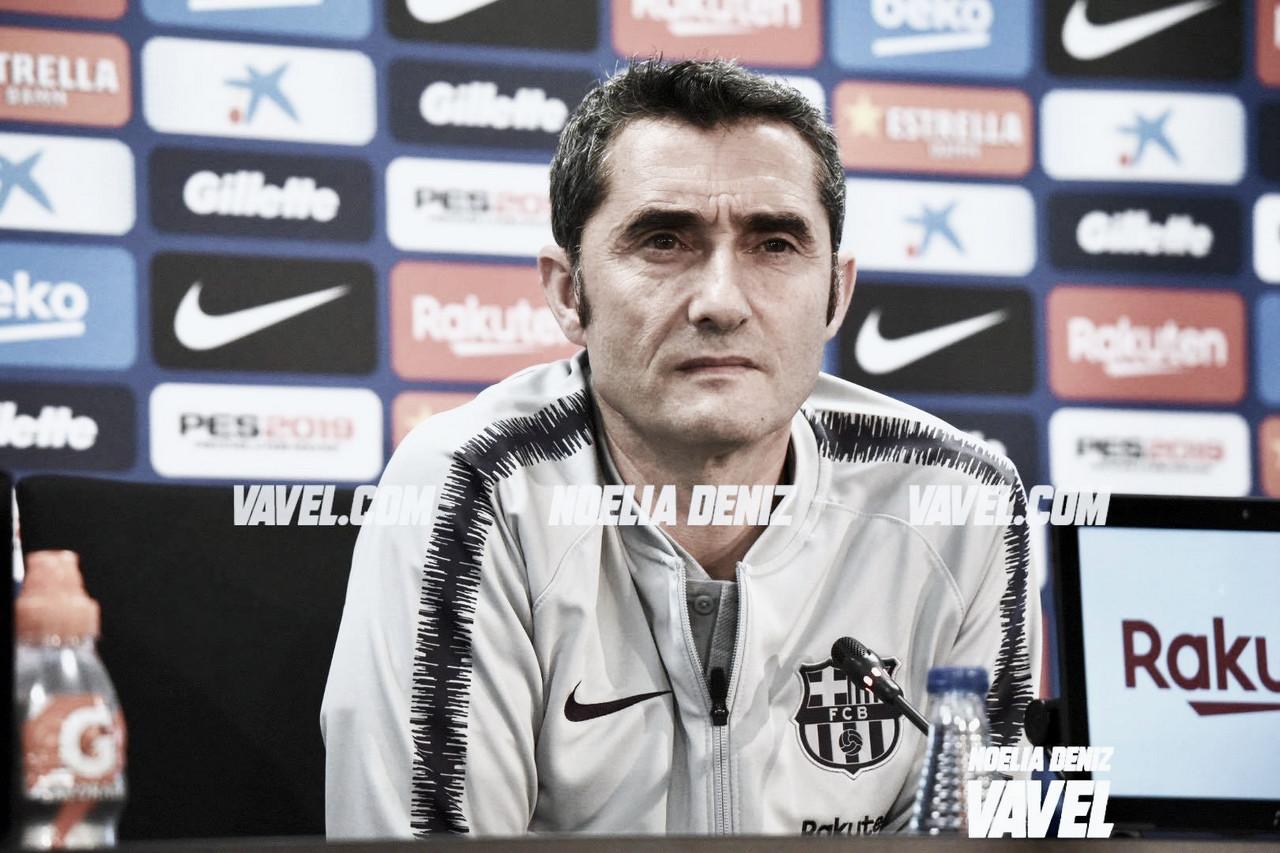 """Ernesto Valverde: """"Tenemos que mejorar en algunas cosas"""""""