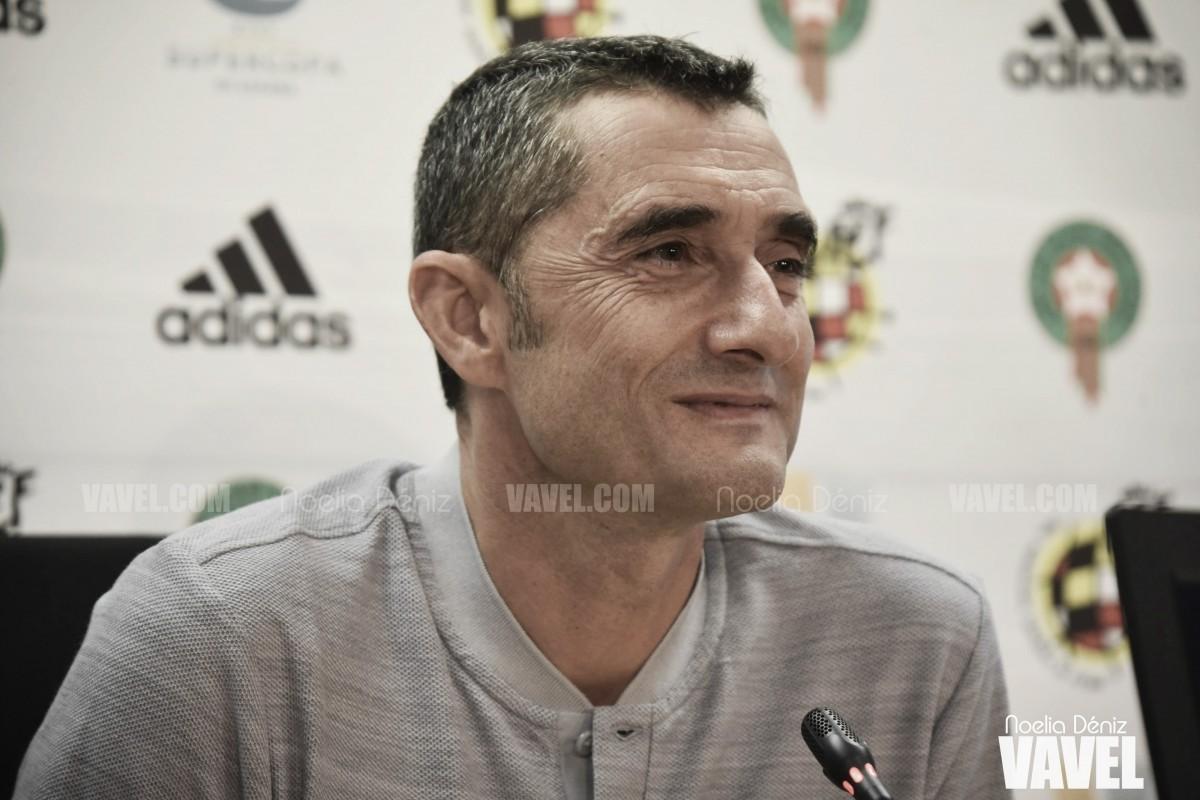 """Ernesto Valverde: """"Tenemos ilusión por poder ganar nuestro primer título"""""""
