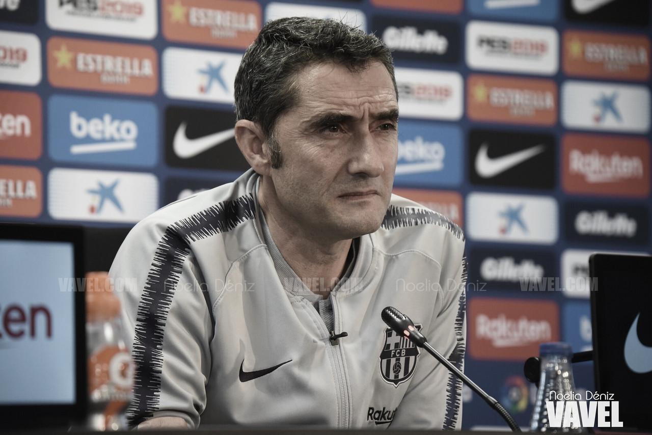 """Ernesto Valverde: """"Los tres puntos ante el Atleti son muy valiosos"""""""