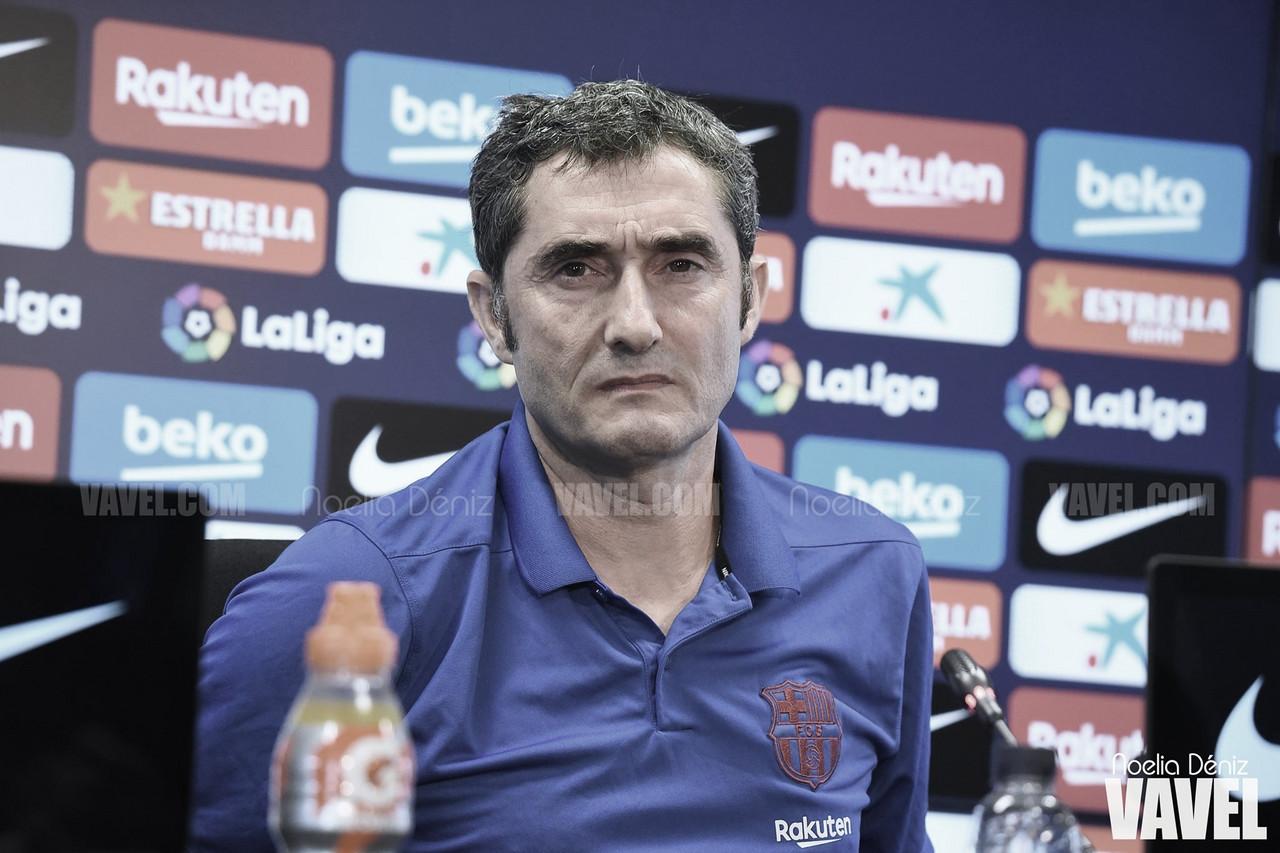 """Ernesto Valverde: """"La lesión de Suárez trastocó nuestros planes"""""""