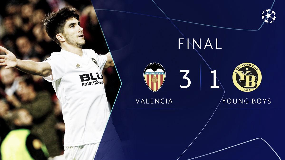 Santi Mina y Carlos Soler devuelven al Valencia a la senda de la victoria
