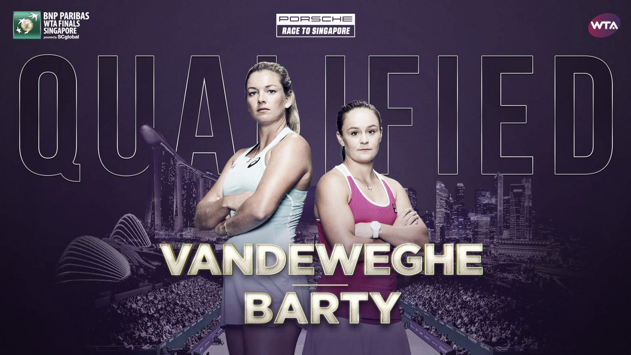 Ashleigh Barty and Coco Vandeweghe qualify for WTA Finals
