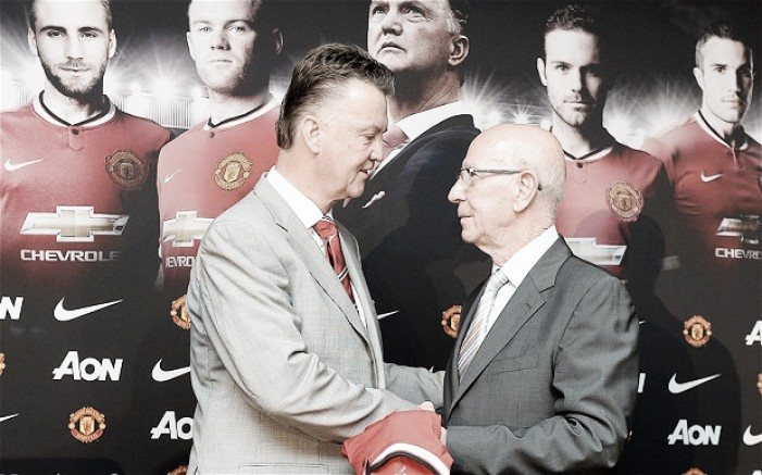 Louis van Gaal calls Sir Bobby Charlton his 'idol' as a child