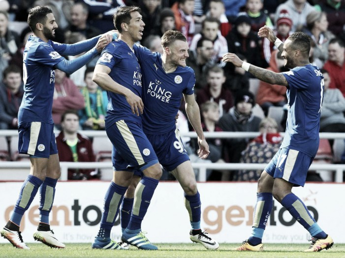 Sunderland 0-2 Leicester City: Vardy brace sees Foxes close in on title