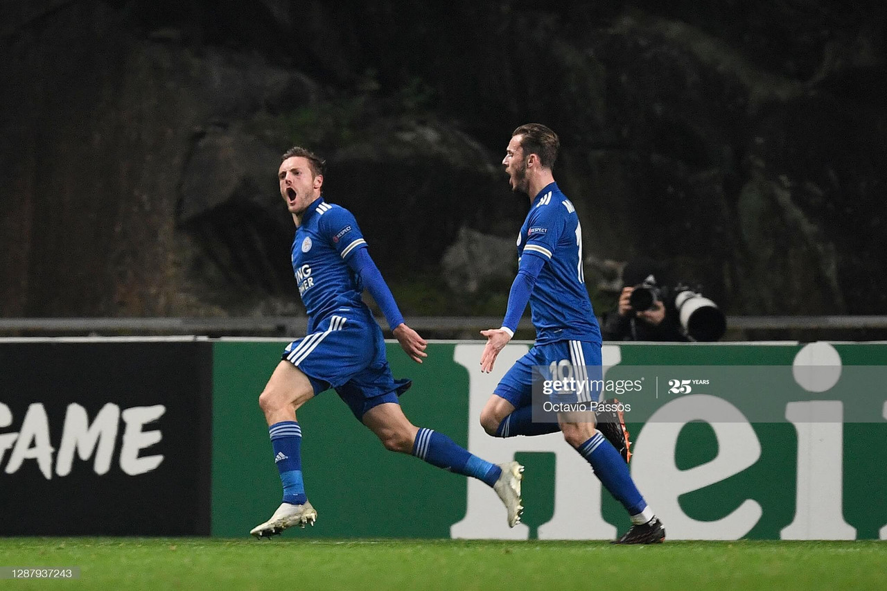 SC Braga 3-3 Leicester City: Late Vardy strike earns Foxes qualification to knockout round.