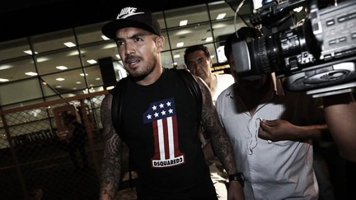 Juan Manuel Vargas llegó a Lima para sumarse a la Selección Peruana
