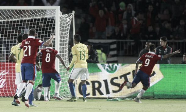 Qualificazioni Russia 2018 - E' sempre Vargas-Sanchez: il Brasile cade ancora in Cile