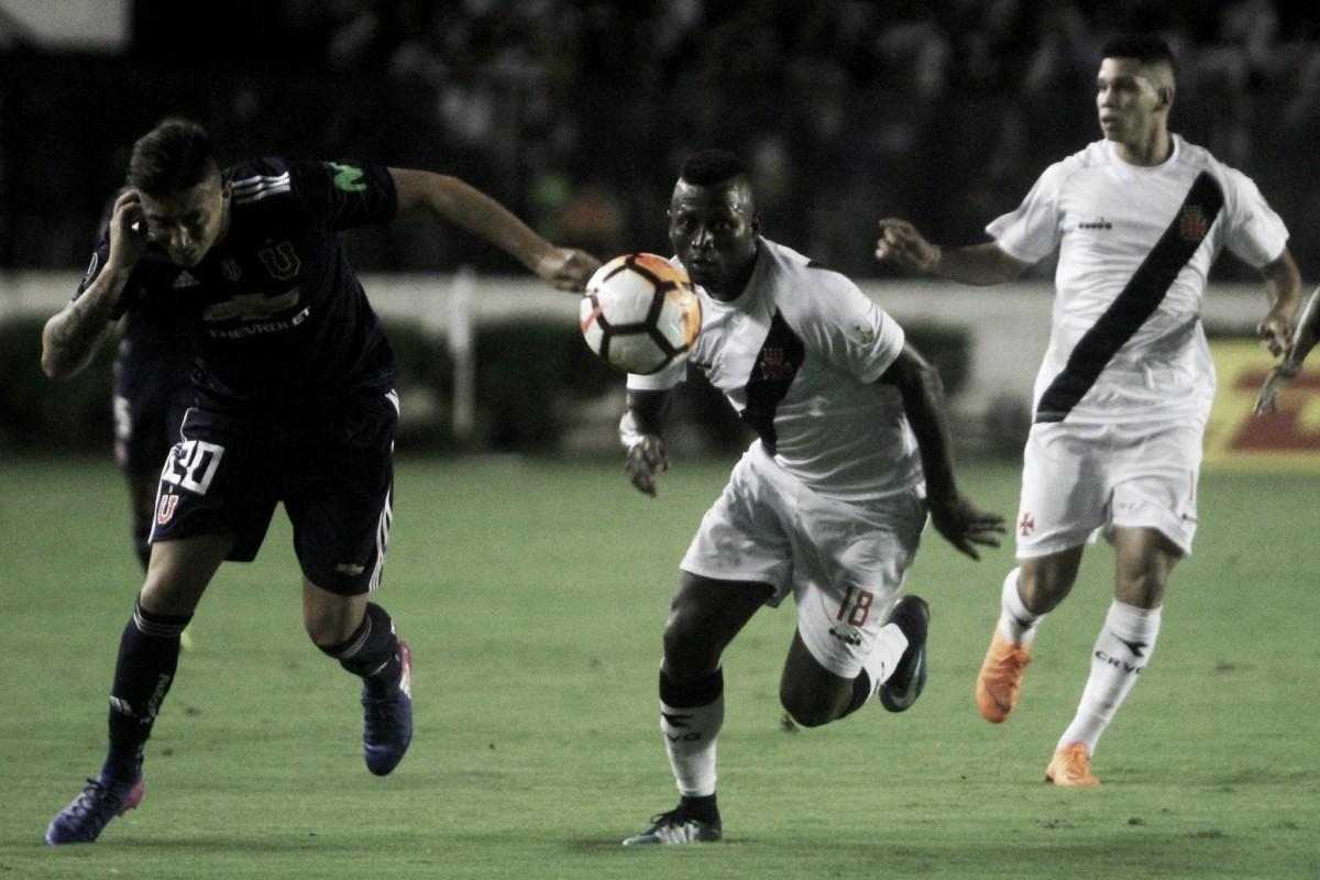 Em grupo do Cruzeiro na Libertadores, Vasco é derrotado por Universidad de Chile