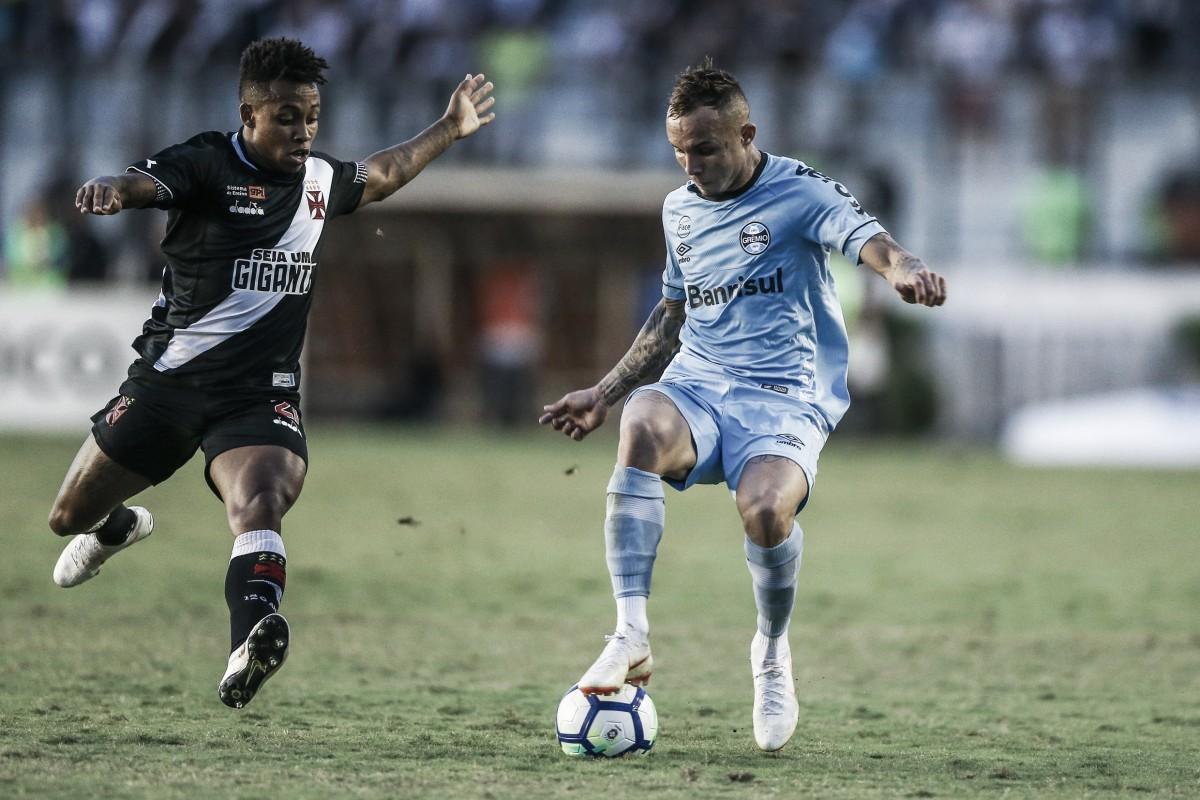 Ríos faz gol no início, Vasco resiste à pressão do Grêmio e vence pelo placar mínimo