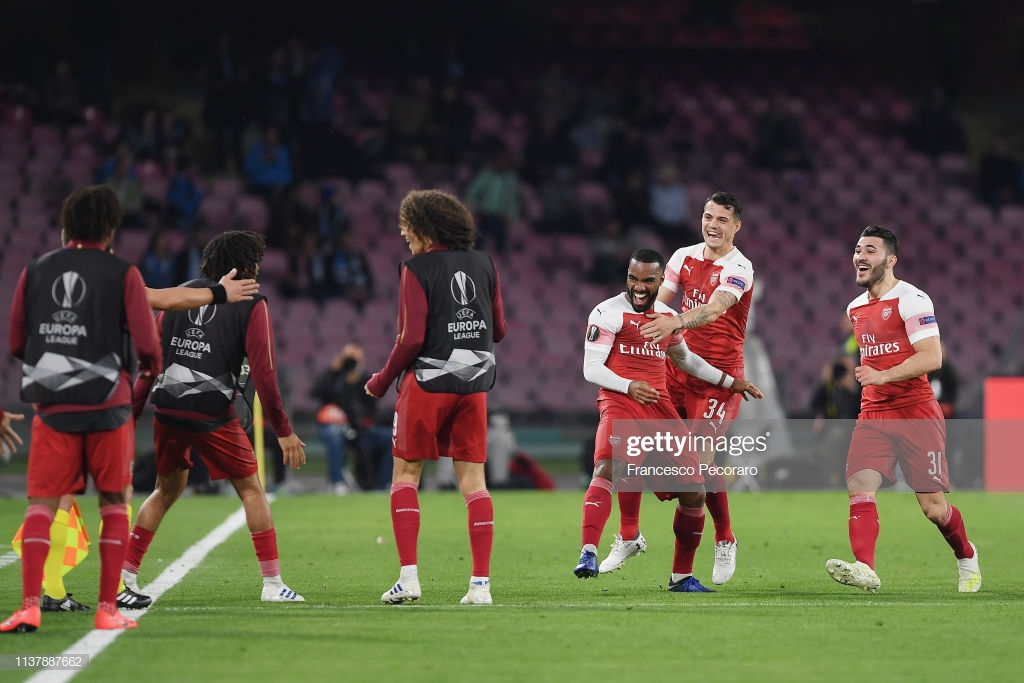 Napoli 0-1 Arsenal: Lacazette magic sees Arsenal safely into semi-finals