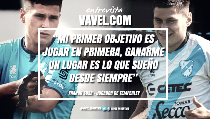 """Entrevista. Franco Sosa: """"Temperley es un club con mucha actitud"""""""